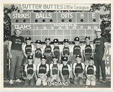 circa 1965? Yuba City California SUTTER BUTTES Little League Baseball Team