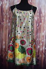 NWT Joy Joy Multicolor Spaghetti Strap dress Sz S Small Floral Print $96 retail