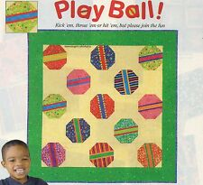 Play Ball Quilt Pattern Pieced/Paper Pieced TE