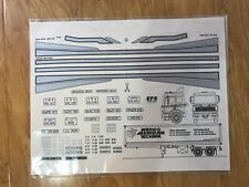 WEDICO MERCEDES BENZ TRAILER TRUCK ORIGINAL DECAL VINTAGE RC