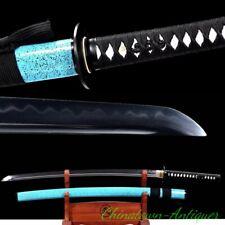 Japanese Blue Snow Samurai Sword Full Tang Katana T10 Steel Clay Tempered #2532