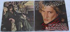 Rod Stewart [Lot of 2 LPs]: Never A Dull Moment / Foolish Behaviour