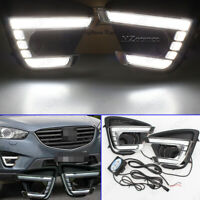 For Mazda CX-5 CX5 2012-2016 LED Daytime Running Light Fog Lamp Turn Signal DRL