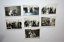 Vintage Photographs SOLDIERS fun at clinic Lot of 7 Black White