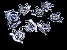 10 Pcs Tibetan Silver Snail Charms Pendant Jewellery Craft Kids Outdoors B74