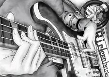 BASS GUITAR MUSIC A3 POSTER PRINT YF1099