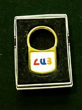 ARMENIA ARMENIAN RARE BADGE ORDER MEDAL METAL ENAMEL MEDALLION KEY CHAIN IN BOX