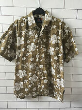 URBAN HAWAIIAN IBIZA BRIGHT FLORAL OVERSIZED FESTIVAL SHIRT SIZE UK M #24