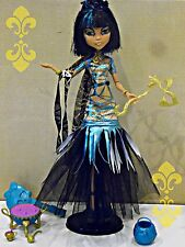 Monster High Cleo De Nile Ghouls Rule Doll & Accessories lot