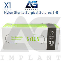 3-0 Nylon Sterile Surgical Sutures Non Absorbable Blue Monofilament Medical