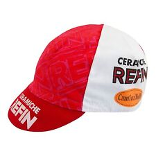 Refin Ceramiche Vintage Cycling Cap red and white made in Italy