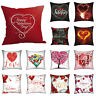 Valentine's Day Lovers Print Pillow Case Sofa Cushion Cover Home Wedding Decor