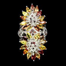 TOP MULTI COLOR SAPHIRE RING : Natürliche Mehrfarbig Saphir Ring Gr. 18,5 R507
