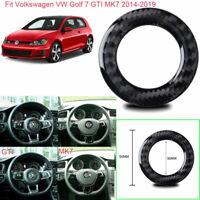 Vehicle Steering Wheel Ring Carbon Fiber Sticker For VW Golf 7 GTI MK7 2014-2019