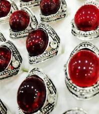 Anillos de color principal rojo de acero inoxidable para hombre