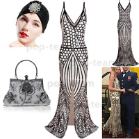 1920s Flapper Dress Formal Evening Wedding Party Cocktail Maxi Dresses Ball Gown
