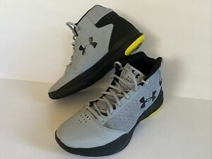 Under Armour Men's 1300016 941 Lace Up High Top Gray Running Shoes Size 10 VGUC