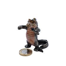 Miniature Ceramic Crocodile Singer Ornament