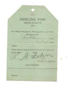 1937 sideline pass, U. N. C. vs. Fordham football