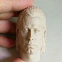 1/6 Scale Vincent Vega Head Sculpt Unpainted Pulp Fiction John Travolta