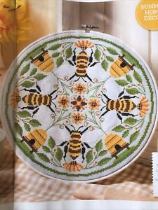 (P) Bee Hive Mandela Cross Stitch Chart