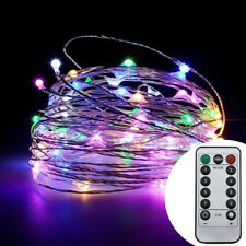 16/33/66ft Copper Wire RGB Fairy String LED Light with Remote Control Xmas Decor