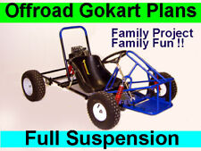 Gokart Plans 4 plans 7 designs Offroad ATV Quad 2 Seater - PDF sent to email.