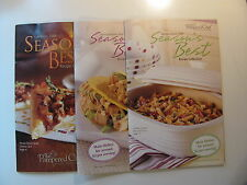 SET OF 3 THE PAMPERED CHEF SEASONS BEST RECIPE COLLECTION BOOKS