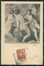 Rome City Academy of San Luca Veronese Postcard xb4678