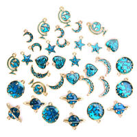 10Pcs/Set Enamel Alloy Universe Series Charms Pendant Jewelry DIY Craft Findings
