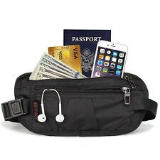 Travel RFID Blocking With Sleeves Money Belt Bag Passport Holder Daily-use Black