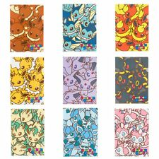 Pokemon Center Original POKEMON DOLLS A4 Size Clear File Folder 9 pcs set Eevee