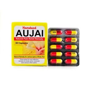 Hamdard Herbals Aujai 60 Capsules Natural remedy for Various Types of Body Pains