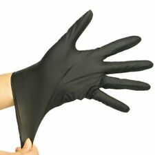 Black Powder Free Latex Free Nitrile Disposable Gloves Tattoo Mechanic Health
