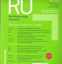 RÜ Rechtsprechungsübersicht AS, Ausgabe April 04/2019