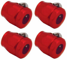 "FUEL LINE FITTINGS CLAMPS Red 4EA FOR 3/8"" I.D.HOSE 2262 Worm Gear 0.725 Max OD"