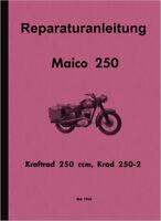 Maico M 250 B Bundeswehr Krad Reparatur Anleitung Werkstatt Buch 80 Seiten Neu