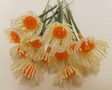 144 pcs Darice Plastic Artificial Aster Statment Flower Center Picks Stems VTG