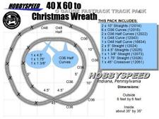 LIONEL FASTRACK 40x60 TO A CHRISTMAS TREE WREATH LAYOUT ADD-ON-PACK layout NEW