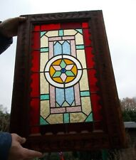 Matched pair of Victorian stained glass windows