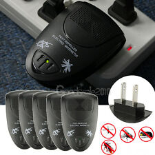 5x Ultrasonic Electronic Anti Mosquito Rat Mice Pest Bug Repeller Control Black