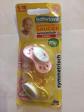 """""""Baby Love"""" - 2 Beruhigungssauger für Kinder von 5-18 Monaten / Neu & OVP"""
