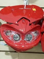 12V Universal Front Light Fairing for Motorcycle Dirt Bike Headlight RED