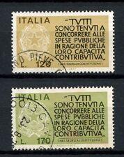 ITALIA 1977 SG # 1511-2 incoraggiamento ai contribuenti utilizzato Set # 40417