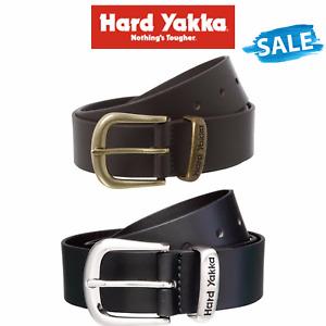 SALE Hard Yakka Belt Colorado Oil Tan Leather Work Brass Buckle Brown Y09402