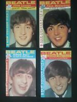 THE BEATLES 4 SMALL REPRODUCTION MAGAZINES , 1 OF EACH MEMBER