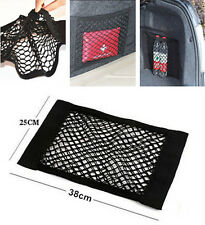 15x9.8in Auto Trunk Seat Back Rear Elastic String Net Storage Bag For Jeep