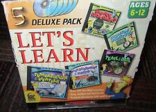 Let'S Learn 5 Disc Cd-Rom Deluxe Pack, Temp,Weather,Money,Time,+ More, Win/Mac