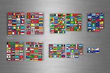 Set 252x sticker flag scrapbooking country collection stamp coins small world r2