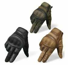 Motorcycle Hard Knuckle Full Finger Leather Military & Sport Tactical Gloves